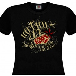 T-shirt Hot Rod Built for Speed - Noir & Rouge