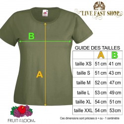 T-shirt Rockabilly Music - Bicolore Rouge et Blanc