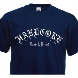 T-shirt Hot Rod Kustom Built for Speed - Bicolore Noir et Blanc