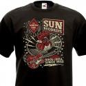 T-shirt Rock'n'Roll Wanna Shake - Bicolore Ringer
